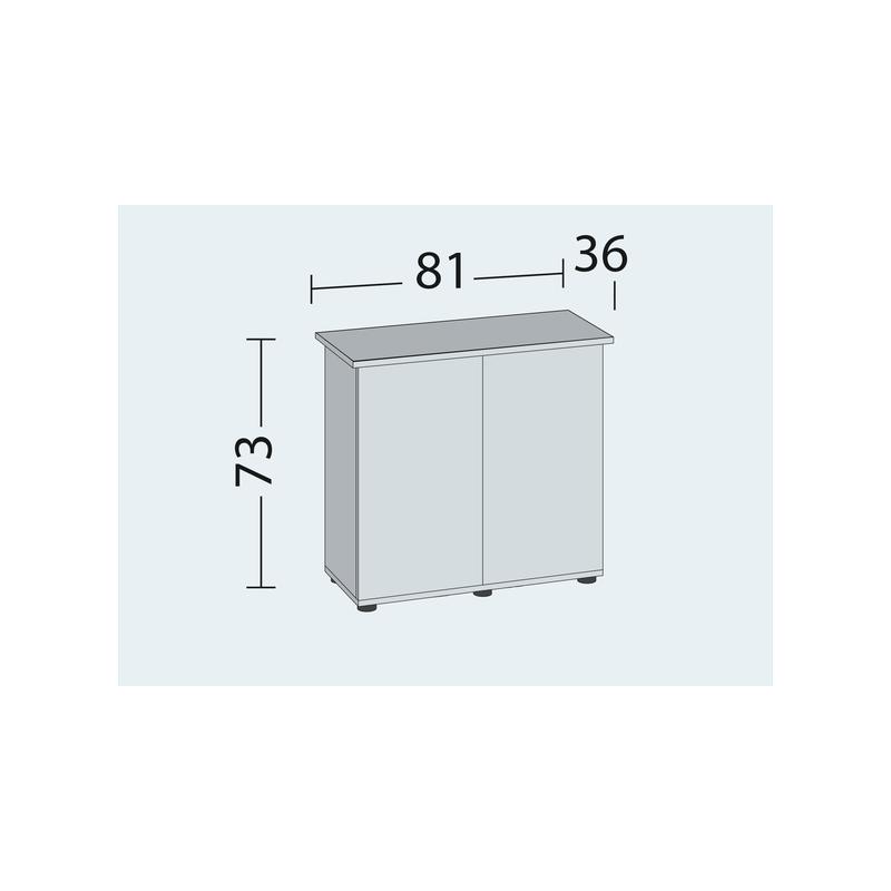Hondeneetbak steen zwart/wit 16 cm